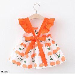 Váy chery cánh tiên thắt nơ sau lưng cho bé TE2250 giá sỉ