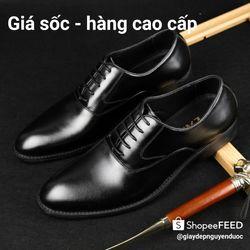 Giày nam giày tây nam buộc da cao cấp lịch sự đi mãi theo thời gian không sợ lỗi mốt giá sỉ