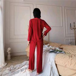 Đồ ngủ đồ mặc nhà tdqd vạt chéo chất lụa quảng Châu cao cấp giá sỉ