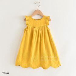 Váy cánh tiên thêu hoa hai lớp mềm mịn TE2434 giá sỉ