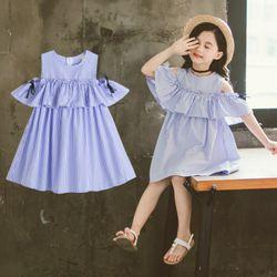 Đầm bé gái trễ vai giá sỉ