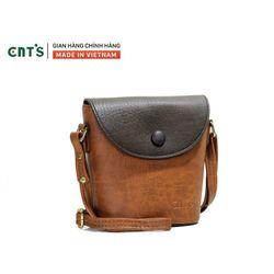 Túi đeo chéo nữ CNT TĐX54 phối cá tính Bò đậm giá sỉ