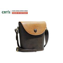 Túi đeo chéo nữ CNT TĐX54 phối cá tính Nâu giá sỉ