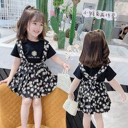 Set áo thun mix váy hai dây hoa cúc hottrend 2020 TE2416 giá sỉ