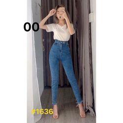 Quần Jean Nữ lưng Kiểu cạp cao Ms1636 chuyên sỉ jean 2KJean giá sỉ
