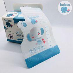 Túi trữ sữa Babuu hộp 50 túi 250ml loại có vòi giá sỉ