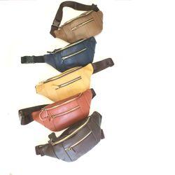 Túi đeo chéo bao tử da bò sáp giá sỉ