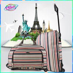 Túi xách cần kéo Melody Quý ông Quý bà du lịch cở trung size 20 inch thời trang Shalla tặng túi chống nước điện thoại giá sỉ