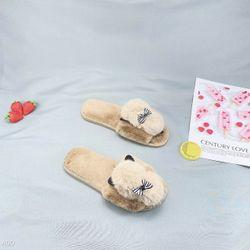 dép lông mang trong nhà êm chân thoải mái 2 màu hồng và nâu xịn xịn giá sỉ
