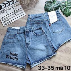 Quần short đùi jean nữ thêu chữ chuyên sỉ jean 2KJean giá sỉ