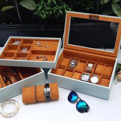 Hộp đựng đồng hồ, trang sức và mắt kính ráp khay 3 tầng rời giá sỉ