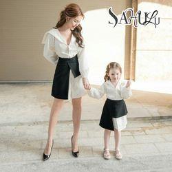 Set đầm mẹ và bé ( áo sơ mi kèm chân váy) giá sỉ