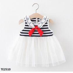 Váy thuỷ thủ trắng đen TE 2510 giá sỉ
