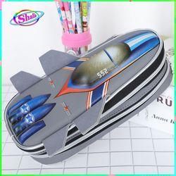 Hộp bút bi cho bé in hình 3D máy bay siêu ngầu Shalla giá sỉ