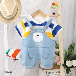 Set áo thun + yếm mặt gấu dễ thương TE2472 giá sỉ