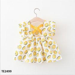 Váy chanh đan dây X sau lưng cộc tay TE2499 giá sỉ