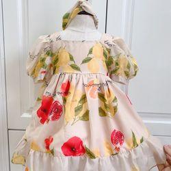 Đầm thiết kế cao cấp bé gái tặng kèm phụ kiện giá sỉ