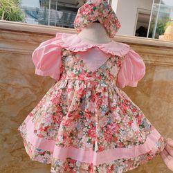 Đầm bé gái thiết kế tặng kèm phụ kiện ( băng đô) hàng bán giá sỉ