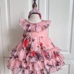Đầm cao cấp thiết kế bé gái chất lụa tơ giá sỉ
