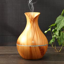 Máy xông tinh dầu vân gỗ có đèn led mẫu hoa tulip giá sỉ