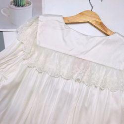 Đồ ngủ đồ mặc nhà đùi bánh bèo phối ren Lụa Quảng Châu giá sỉ