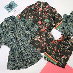 Đồ ngủ đồ mặc nhà Pijama tdqd Lụa Hàng Quảng châu siêu Mịn giá sỉ