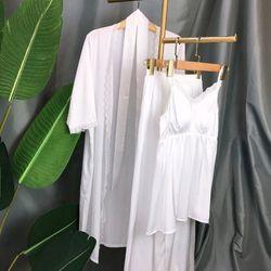 Đòi ngủ sét 2 món váy Lụa Hàng Quảng châu cao cấp giá sỉ