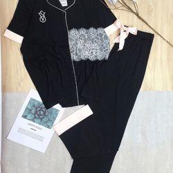 Đồ ngủ đồ mặc nhà tnqd viền Túi pha ren Thun QC siêu sang giá sỉ