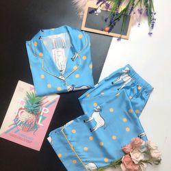 Đồ ngủ đồ pijama mặc nhà TDqd Họa tiết Lụa in 3D hàng QC giá sỉ