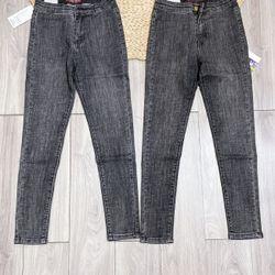 Quần jeans trơn không túi, màu khói size 26-29 giá sỉ