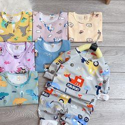 Bộ mặc nhà trẻ em - Bộ cotton giá sỉ
