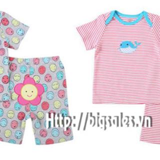 Set 2 bộ quần áo mông thú carter ngắn dành cho trẻ từ 6 tháng tuổi trở lên duy nhất tại giá sỉ