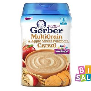 Bột ăn dặm gerber multigrain apple sweet potato cereal giá sỉ